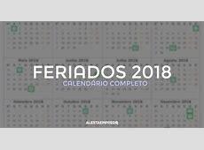 Feriados 2018 calendário completo Alerta Emprego