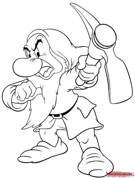 grumpy coloring    dwarfs printable coloring