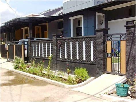 model pagar tembok minimalis depan rumah desain model
