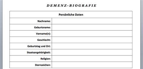 vorlage  demenz biografiebogen word