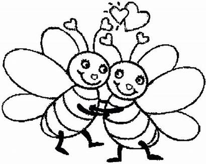 Bee Bumble Coloring Pages Printable Outline Hugging
