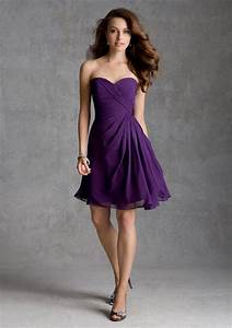 Elegant short purple bridesmaid dresses cherry marry for Short purple wedding dresses
