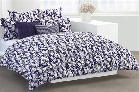 New Dkny Flowering Willow Full/queen Duvet Cover Indigo