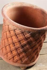 Plain Letter Terracotta Lattice Basket Weave Planter Pot