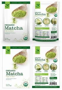 Matcha Green Tea Packaging Template