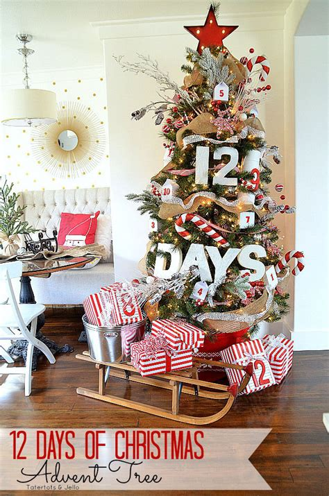 12 days of christmas advent tree pictures photos and
