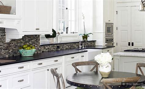 black granite white cabinet glass tile idea backsplash com