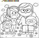 Coloring Happy Park Pages Vector Parents Illustration Adult Children Clip Hugging Boy Istockphoto Books Boys sketch template