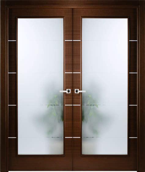italian wenge interior double door  frosted glass