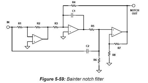 notch filter design understanding a bainter circuit chebychev filter