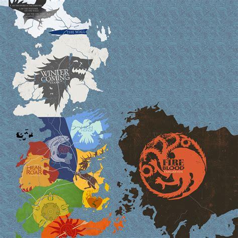 maisons of thrones of thrones maisons carte westeros et livraison villes affiche home deco 12 x 12 24 x 24