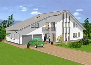 Einfamilienhaus Mit Garage : grundriss einfamilienhaus mit integrierter garage ~ Lizthompson.info Haus und Dekorationen