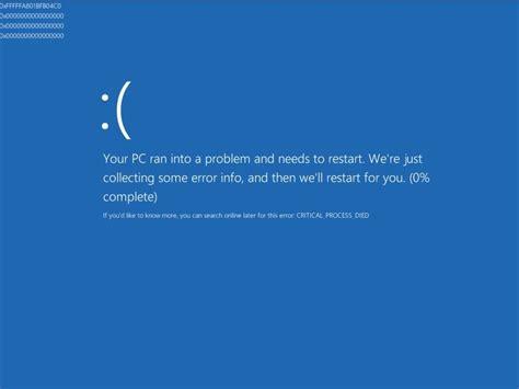 critical process died  windows  fix  error