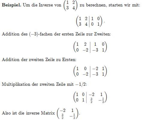 berechnen sie die inverse matrix der reellen matrix