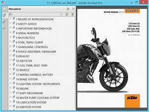 Ktm Duke 125 And 200  2013  - Service Manual