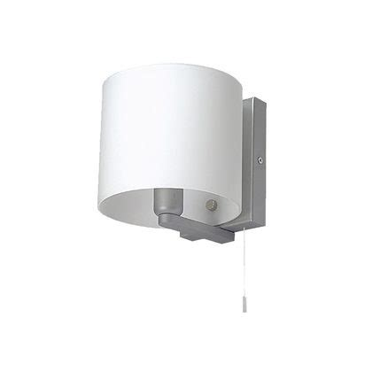 small pull cord switch wall light satin chrome wl3361