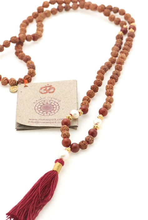 Devoted to Earth mala necklace of mala beads, Turquoise ...