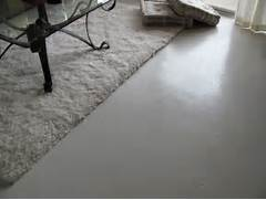 Painting Concrete Bedroom Floors by Inside House Painting Concrete Floor With White Color Look Like Tile In The B