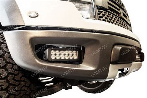 2 36w cree led fog light kit bumper mounting bracket for