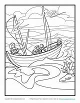 Coloring Bible Paul Pages Sunday Shipwreck Storm Shipwrecked Printable Barnabas Activity Crafts Jesus Apostle Sundayschoolzone Boat Sheets Children Google Silas sketch template