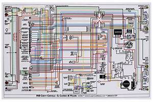 Factory Wiring Diagram  Full Color Fits 1968 Chevelle   Opgi Com