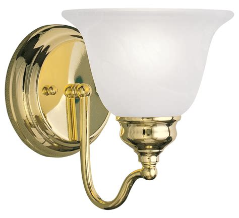Polished Brass Sconce - livex lighting polished brass bathroom sconce polished