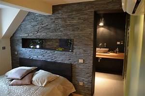 Petite Salle De Bain Ouverte Sur Chambre : chambre ouverte sur la salle de bains lauren creation ~ Melissatoandfro.com Idées de Décoration