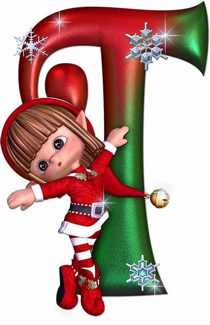 Alphabet Letter Clipart Elf Christmas Letters Transparent