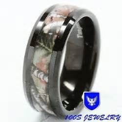 mens wedding bands size 16 8mm mens tungsten ring real oak camouflage black plated wedding band size 8 16 ebay