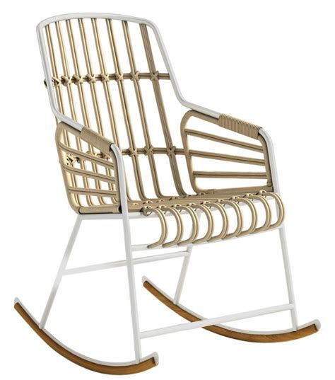 chaise rocking chair raphia casamania rocking chair milia shop