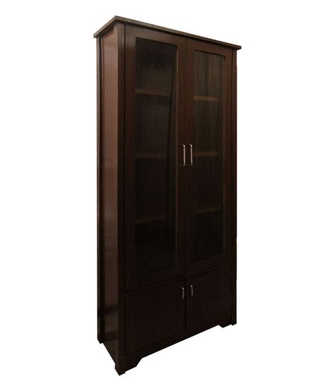 Library Bookcase With Glass Doors by Silver Pine Library Bookcase With Glass Doors Buy Silver