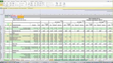 construction cost estimate template excel addictionary