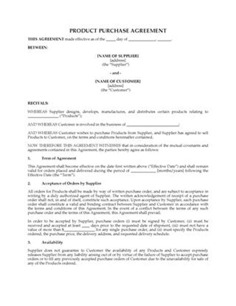 letter  intent  purchase products legal forms