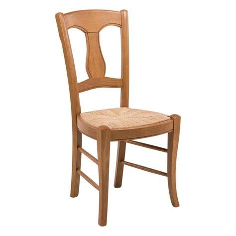 chaise bois assise paille chaise rustique en paille de seigle et chêne massif 263