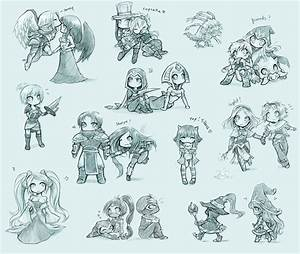 Some League of Legends chibis by ShiNaa on DeviantArt