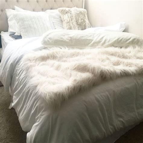white bedding bedroom  bedding pinterest faux
