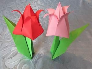 Comment Faire Une Boite En Origami : origami tulipe en papier ~ Dallasstarsshop.com Idées de Décoration