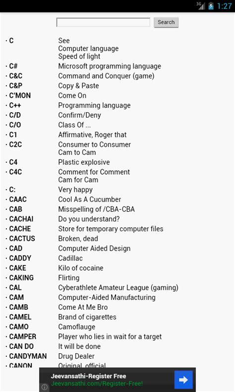 internet slang dictionary android apps on google play
