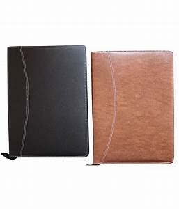 Renown black brown leather documents file folder set for Document folder leather online