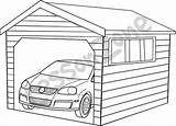 Garage Coloring Template sketch template