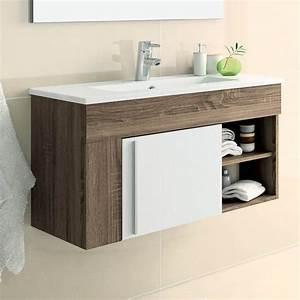 Salle De Bain Meuble : meuble salle de bain 80 cm avec miroir granada ~ Dailycaller-alerts.com Idées de Décoration