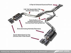 Awe Tuning Exhaust System  Panamera V6   U2013 Flat 6
