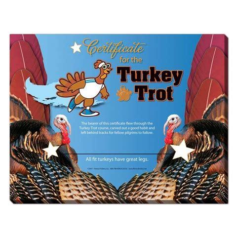 Turkey Running In A Turkey Trot Template by Fitness Finders Inc Turkey Trot Certificate