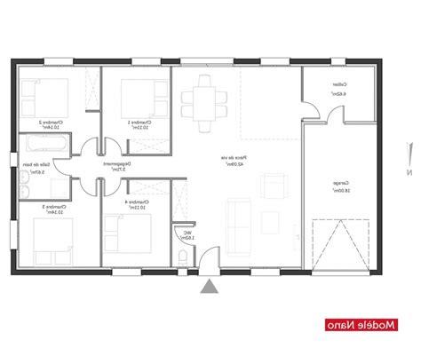 plan maison 4 chambres gratuit plan maison 100m2 plein pied gratuit que pensestu de a