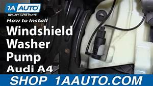 How To Install Replace Windshield Washer Pump 1998