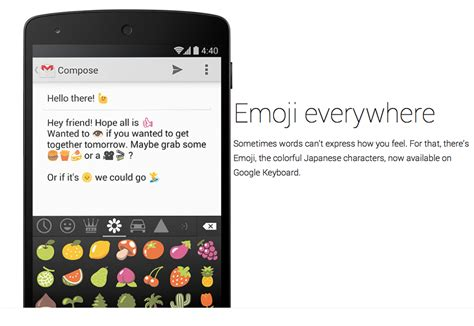 iphone emoji font for android android emoji keyboard comes with android 4 4 kitkat update