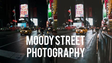 edit desaturated dark  moody street photography