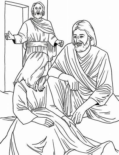 Jesus Jairus Coloring Daughter Heals Miracles Pages