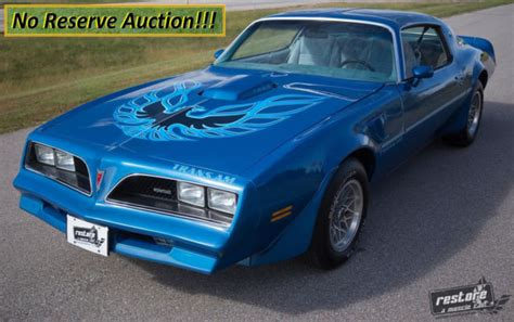 Blue 78 Trans Am by No Reserve 1978 Trans Am W72 4 Speed Ws6 Martinique