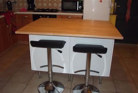 ilot dans cuisine fabriquer ilot central sur mesure avec